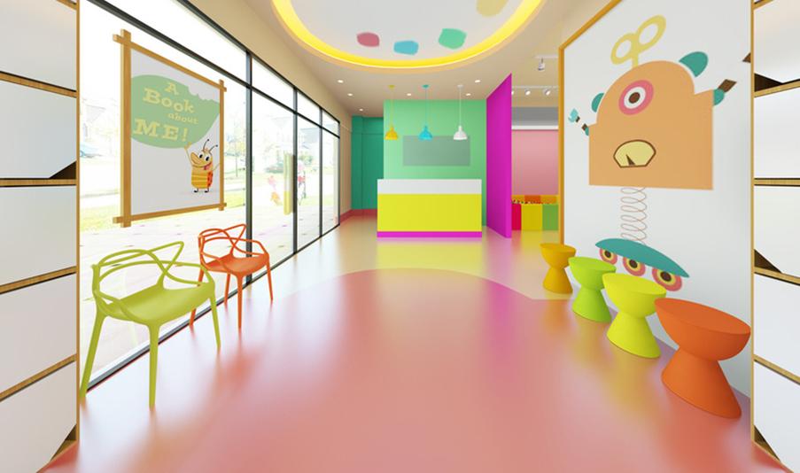 广元馨可早教中心pvc塑胶地板项目