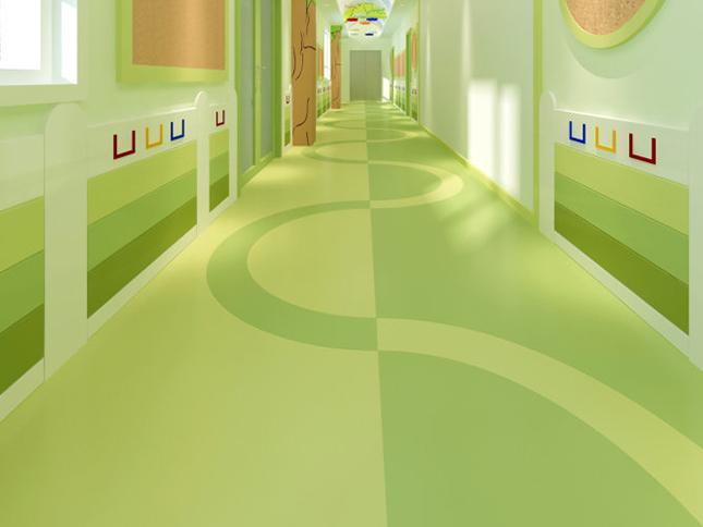 成都贝贝早教中心pvc塑胶地板项目