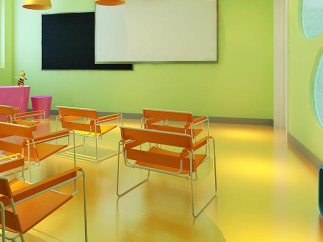 成都宝贝之家早教中心pvc塑胶地板项目